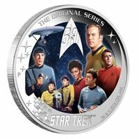 STAR TREK U.S.S. ENTERPRISE NCC 1701 CREW 2016 2OZ SILVER PROOF COIN