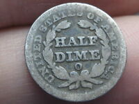 1849 O SEATED LIBERTY HALF DIME  LOW MINTAGE KEY DATE