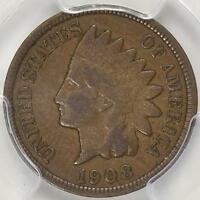 1908 S INDIAN CENT F 12 PCGS  NICE