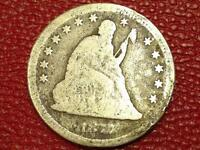 COLLECTIBLE VINTAGE U S. COIN1877 SEATED LIBERTY QUARTER CE39