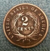 1870 TWO CENT US COIN MUCH BETTER DATE   DETAILS