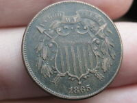 1865 TWO 2 CENT PIECE- VF/EXTRA FINE  DETAILS- WE SHOWING