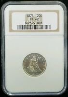 1878 PROOF 20 CENT PIECE NGC PF62   LOW MINTAGE    ONLY 600 MINTED