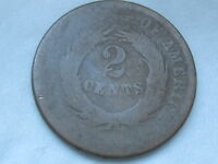 1864-1872 TWO 2 CENT PIECE- CIVIL WAR TYPE COIN