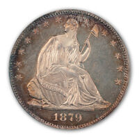 1879 50C LIBERTY SEATED HALF DOLLAR PCGS PR65CAM