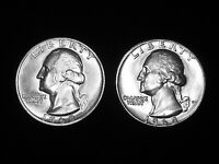 1968 & 1968 D GEM UNCIRCULATED WASHINGTON QUARTERS    2 PACK