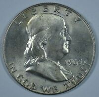 1963 D FRANKLIN SILVER CIRCULATED HALF DOLLAR  SEE STORE FOR DISCOUNTS GR45