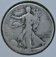 1943 D WALKING LIBERTY SILVER HALF DOLLAR  SEE STORE FOR DISCOUNTS  GR04