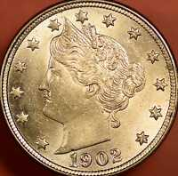 1902 BARBER NICKEL CHOICE UNCIRCULATED