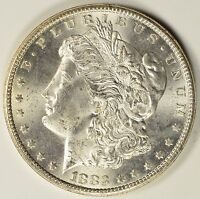 1883 CC MORGAN SILVER DOLLAR  CHOICE BU