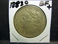 1883O  90 SILVER MORGAN SILVER DOLLAR LY FINE 45 CONDITION NO