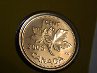 CANADA 2006P ONE CENT PENNY GEM BU MS FROM MINT SET
