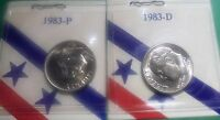 1983 P,D,UNCIRCULATED ROOSEVELT DIMES FROM THIRD PARTY MINT SET