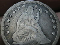 1866 1876 OR 1886 SILVER SEATED LIBERTY QUARTER  VG DETAILS