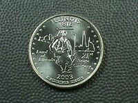 UNITED STATES  25 CENTS  2003     D   BRILLIANT  UNCIRCULATED     ILLINOIS