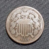 1865 2C TWO CENT PIECE