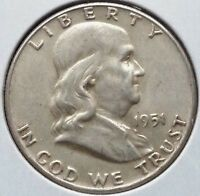 1951 50C FRANKLIN HALF DOLLAR