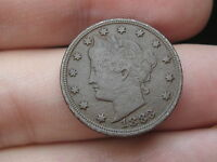 1883 LIBERTY HEAD V NICKEL  WITH CENTS  VF DETAILS FULL RIMS