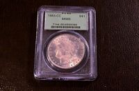 1883 CC MORGAN SILVER DOLLAR PCGS MS65 CERTIFIED  NICE COIN
