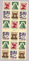 ODDLOTS: US  SCOTT  4210B, 41 HOLIDAY KNITS, 4 TYPES, BOOKLET PANE OF 20