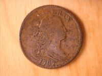 1797 LARGE CENT  EXTRA FINE  WITH SMALL AMOUNT OF TOOLING ON REVERSE