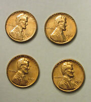 1960 D 4  DIFFERENT PENNY DATE UNC UNCIRCULATED LINCOLN 1 CENT ORIGINAL OWNER