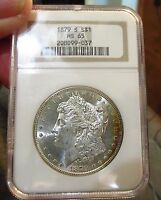 1879S MORGAN NGC CERTIFIEDL MINT STATE 65