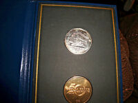 CARSON CITY MINT NEVADA STATE MUSEUM 1939 1989 2 COIN SET MINT & V&T  LG. CC