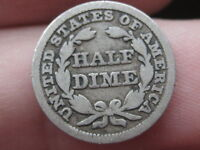 1849 P SEATED LIBERTY HALF DIME  VG/FINE DETAILS
