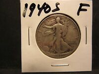 1940S 90 SILVER FINE 12 CONDITION WALKING LIBERTY HALF DOLLAR NO DEFECTS