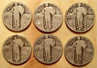 SIX STANDING LIBERTY QUARTERS 1926 2 1927 1928 AND 2 1929