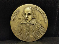 WILLIAM SHAKESPEARE 1564/1616 BRONZE MEDAL
