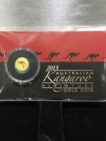 2015 AUSTRALIAN KANGAROO 0.5 GRAM MINIATURE GOLD COIN W/COMPLETE PACKAGING