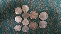 LOT OF 7 HALF DOLLARS 1908 1976 AND 4 SILVER DOLLARS 1884 1976 MIX CONDITION