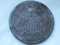 1869 TWO 2 CENT PIECE- CIVIL WAR TYPE COIN