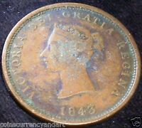 NEW BRUNSWICK  CANADA ,NB 2A ONE  PENNY TOKEN . 1843 BRETON  909