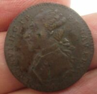 VERY FINE FRENCH LOUIS XVI 1700S JETON TOKEN FROM A COMMODORE'S ESTATE OF 400 PC