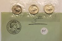1979 P D S SUSAN B ANTHONY SOUVENIR SET  3 COINS  U.S. MINT CELLO