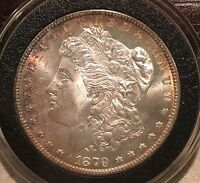1879-S MORGAN SILVER DOLLAR GEM BU GORGEOUS ALBUM TONING 1879 S LOOK