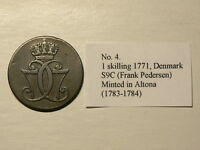 DENMARK 1771 1 SKILLING MINTED IN ALTONA  1783  1784 THICK C  5559