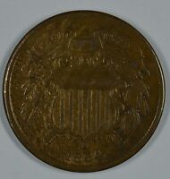 1864 SHIELD 2 CENT COIN  VF DETAILS  SEE STORE FOR DISCOUNTS RD56