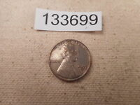 1955 D UNUSUAL SILVER COLORED LINCOLN WHEAT CENT    133699 HINTS OF COPPER
