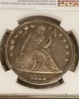 1844 P SEATED LIBERTY DOLLAR NGC VF  ONLY 20,000 MINTED KEY DATE
