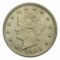 1905 LIBERTY HEAD NICKEL, BEAUTIFUL CONDITION, SMALL COIN [3127.90]