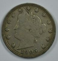 1905 LIBERTY HEAD CIRCULATED NICKEL  F-VF DETAILS GY05