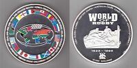 UGANDA COLORED 10000 SHILLINGS PROOF COIN 1995 YEAR WORLD OF RUGBY SILVER 10 OZ
