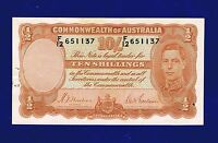AUSTRALIA 10 SHILLINGS 1939 PIC25A X FINE WITH STAPLE HOLE AND GRAFFITTI ES 3