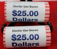 2008 D BU MARTIN VAN BUREN GOLD DOLLAR ROLL OF 25, 8TH PRESIDENT