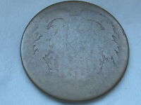 1864-1872 TWO 2 CENT PIECE- CIVIL WAR TYPE COIN, LOWBALL, HEAVILY WORN