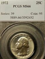 1972 WASHINGTON QUARTER.PCGS MS66